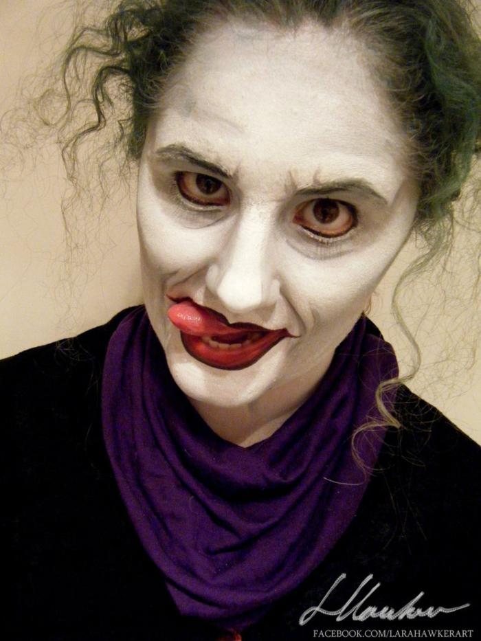 halloween gesicht schminken lara hawker makeup artis  halloween schminke