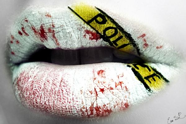 halloween lippen schminken polizei