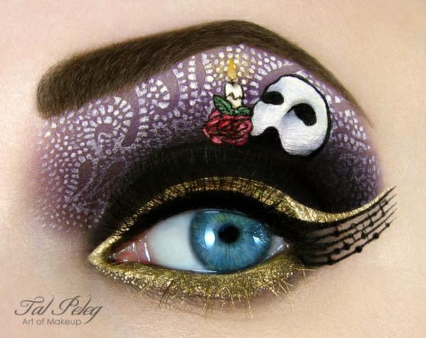 halloween schminke augen kunstwerk