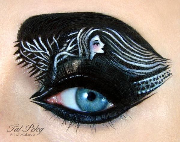 halloween schminke augen schwarz