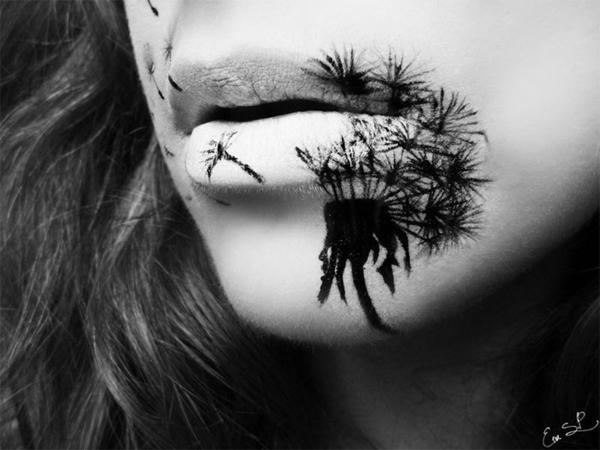 halloween schminke gruselige lippen
