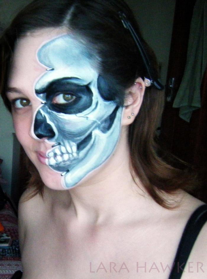 halloween schminke halloween gesicht schminken  lara hawker makeup artist