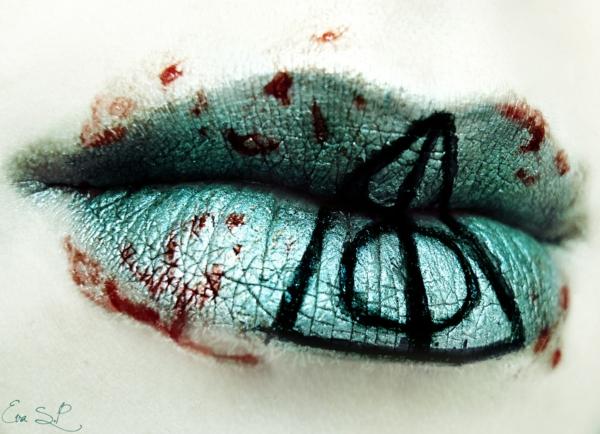 halloween schminke lippen bemalen
