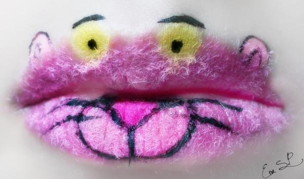 halloween schminke lippen rosa