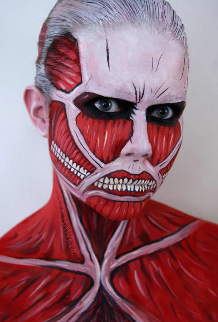 halloween schminke muskeln und knochen halloween gesicht schminken lara hawker