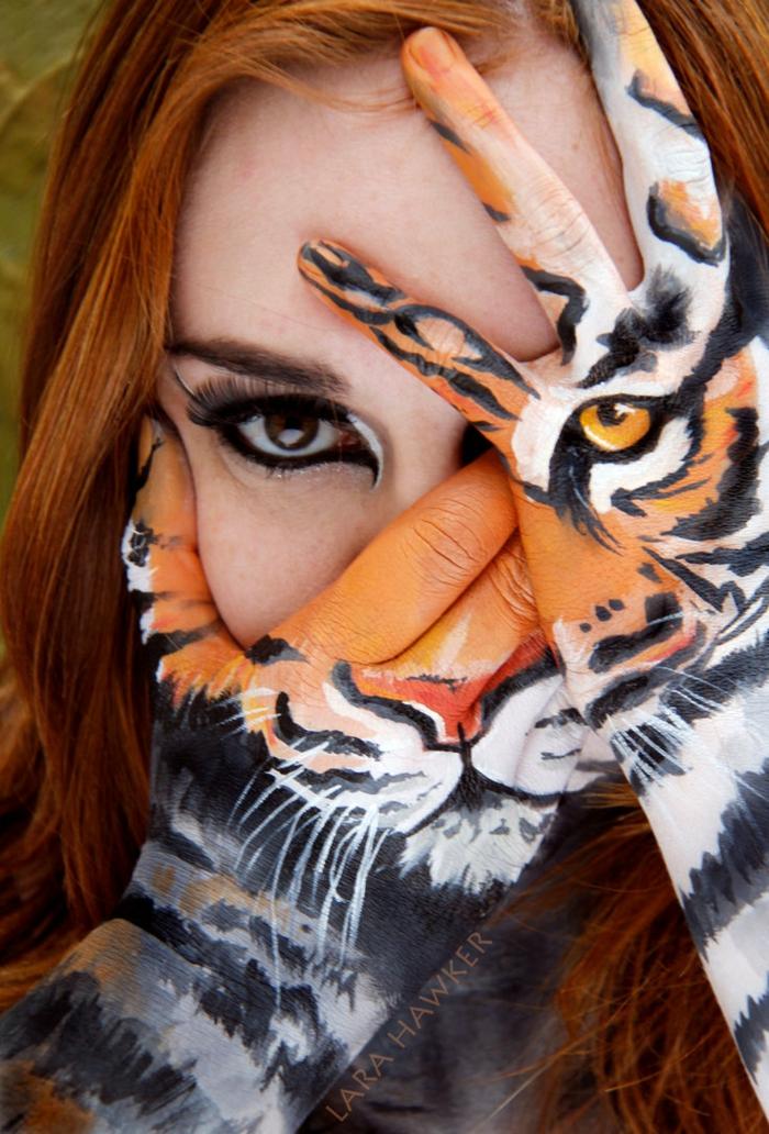 Tiger Gesicht Schminken Pictures to pin on Pinterest