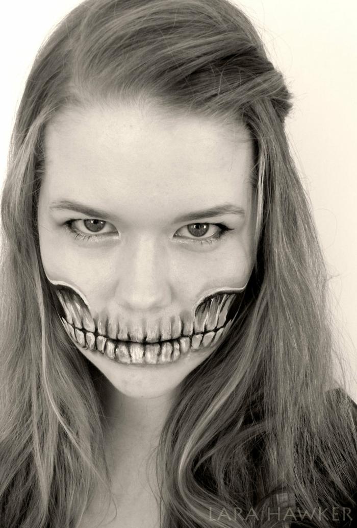 halloween schminke zähne halloween gesicht schminken lara hawker