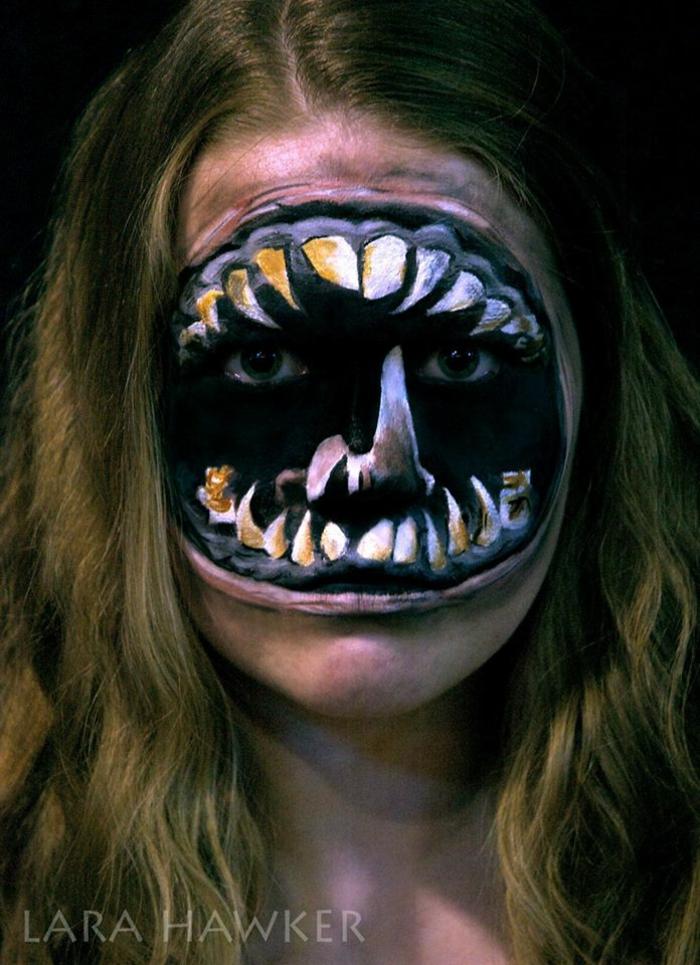 halloween schminken make up artist lara hawker halloween gesicht schminken