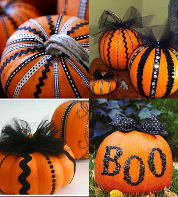 halloween kürbis basteln originelle deko ideen