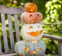 Halloween Kürbis Schnitzvorlagen – 20 thematische Deko Ideen