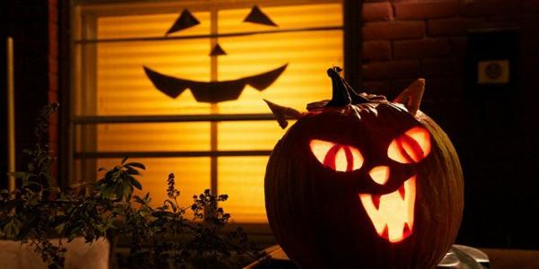 halloween kürbis schnitzen vorlagen halloween kürbis gesicht böse katze