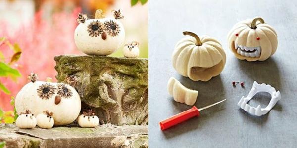 halloween kürbis schnitzen vorlagen kürbis gesicht basteln ideen