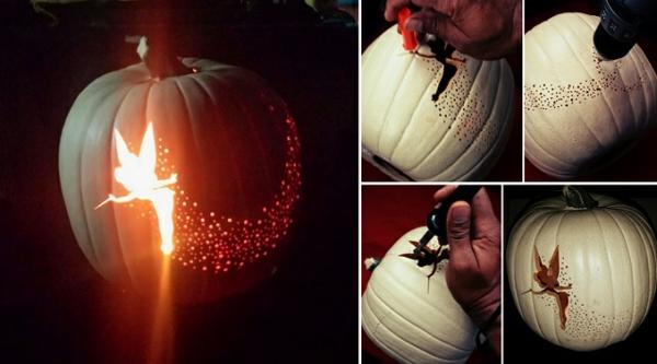 halloween kürbis schnitzvorlagen fee halloween kürbis basteln