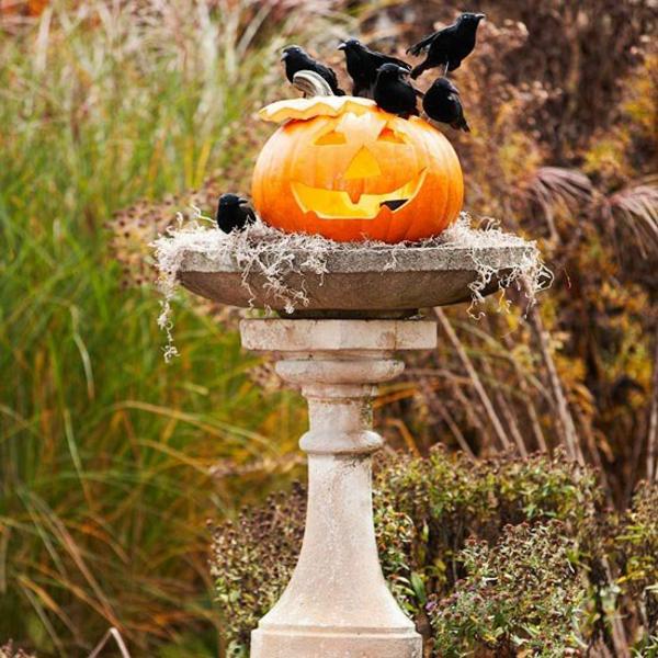 halloween kürbis schnitzvorlagen halloween deko ideen außenbereich