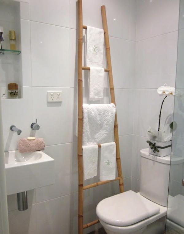 handtuch leiter bambus badmöbel asiatischer stil