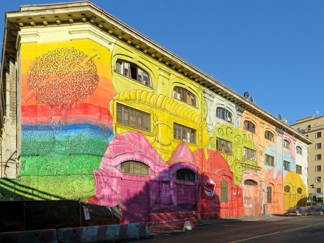 hausfassade gestalten hausfassaden farbgestaltung roma italien