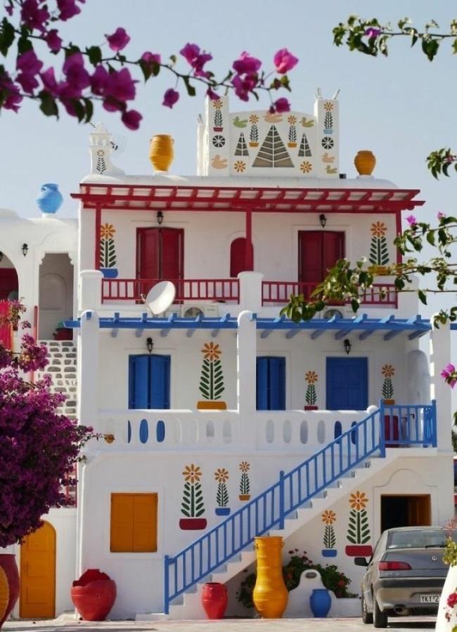 hausfassaden farben hausfassade gestalten im griechischen stil