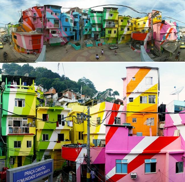 hausfassaden farbgestaltung hausfassade gestalten architektur wohnblock stadtviertel brazil