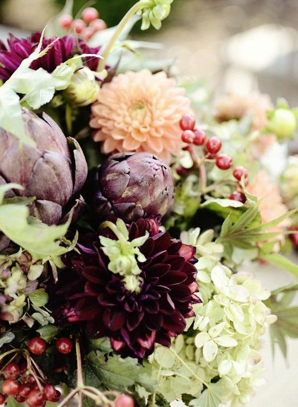 herbstblumen pflanzen herbstdeko ideen tischdeko herbstblumenstrauß