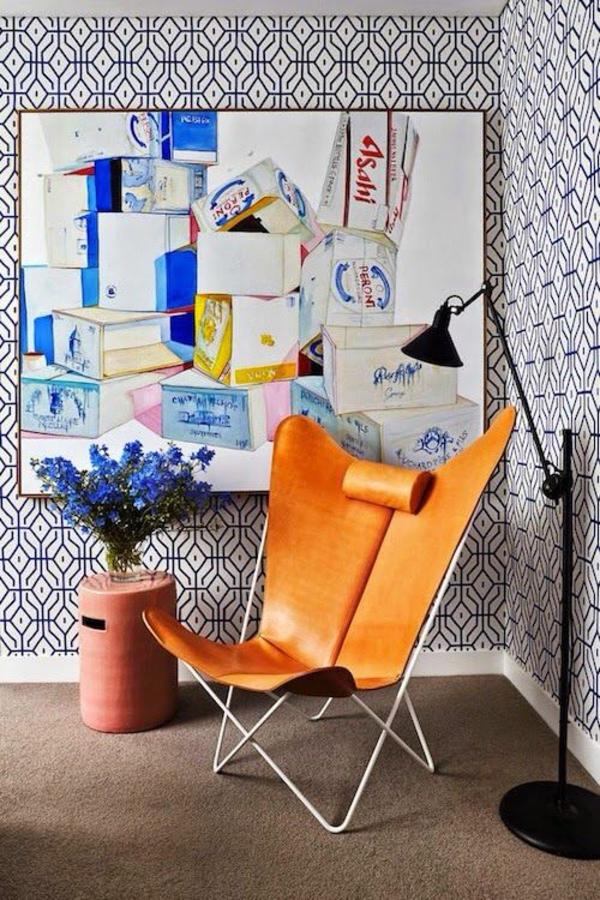 ideen wohnzimmer wandgestaltung entspannungsecke leseecke wanddeko ideen