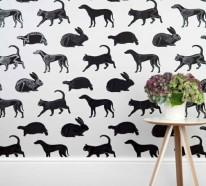 Wohnzimmer Wandgestaltung Ideen – coole Beispiele für Tapetenmuster
