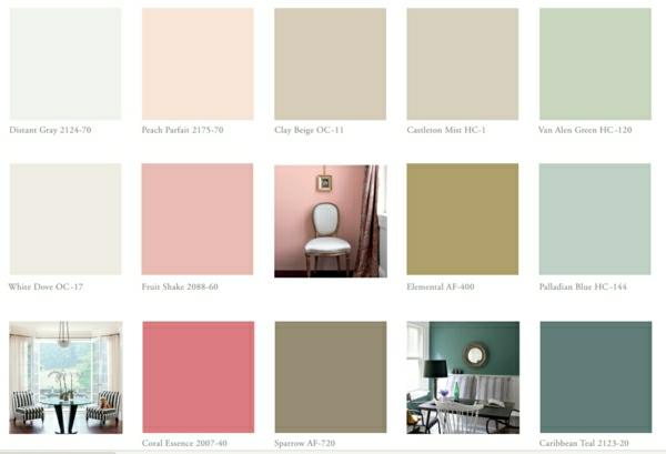 Schon Inspirierende Farbtabelle Wandfarben Wände Streichen Benjamin Moore Farben