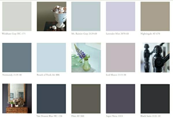 inspirierende farbtafel wandfarben wände streichen benjamin moore farben