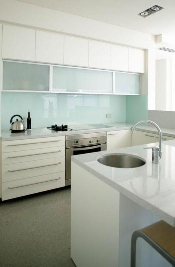 küchenrückwand aus glas fliesenspiegel minzgrün küchenrückwände küchenschränke