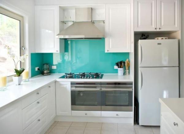 küchenrückwand aus glas küchenrückwand plexiglas türkis akzentwand