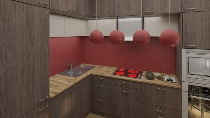 küchenrückwand plexiglas fliesenspiegel bordo