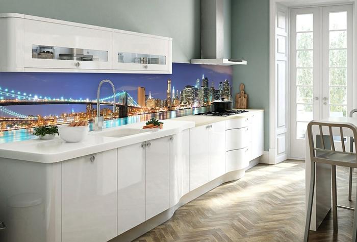 küchenrückwand fliesenspiegel city lights