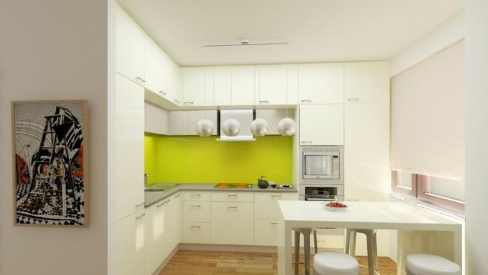 küchenrückwand plexiglas fliesenspiegel grün exotisch