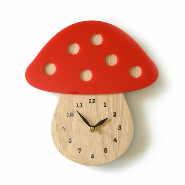 küchenuhr design pilze zifferblatt wanduhren küchenideen