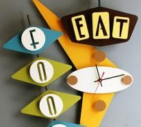Küchenuhren Designs, die den Appetit anregen