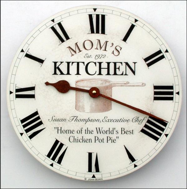 küchenuhren wanduhren wanddeko ideen