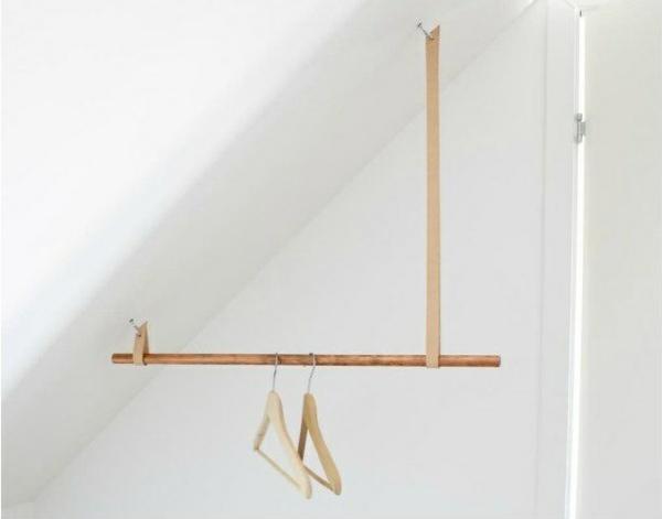 kleiderständer begehbarer kleiderschrank dachschräge selber bauen