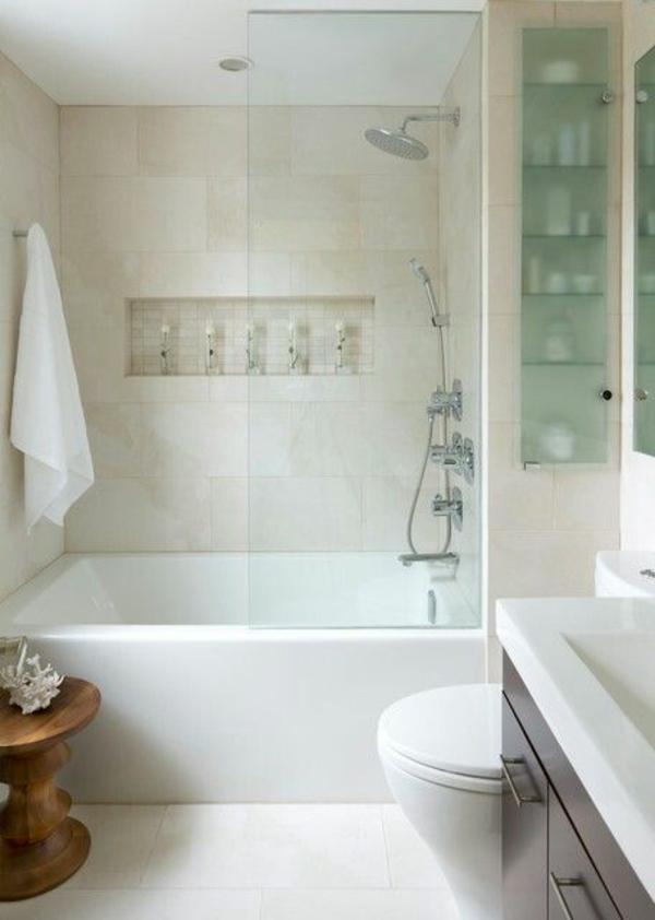 Entzuckend Kleines Badezimmer Einrichten Badewanne Dusche Badgestaltung Kleines Bad