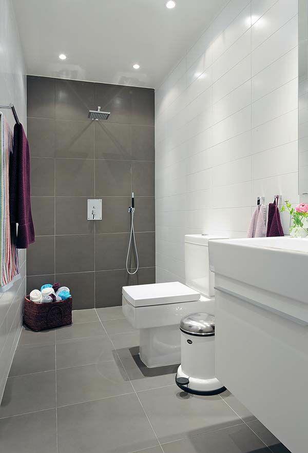 badezimmer modern wei mit wenig fliesen – marauders, Badezimmer