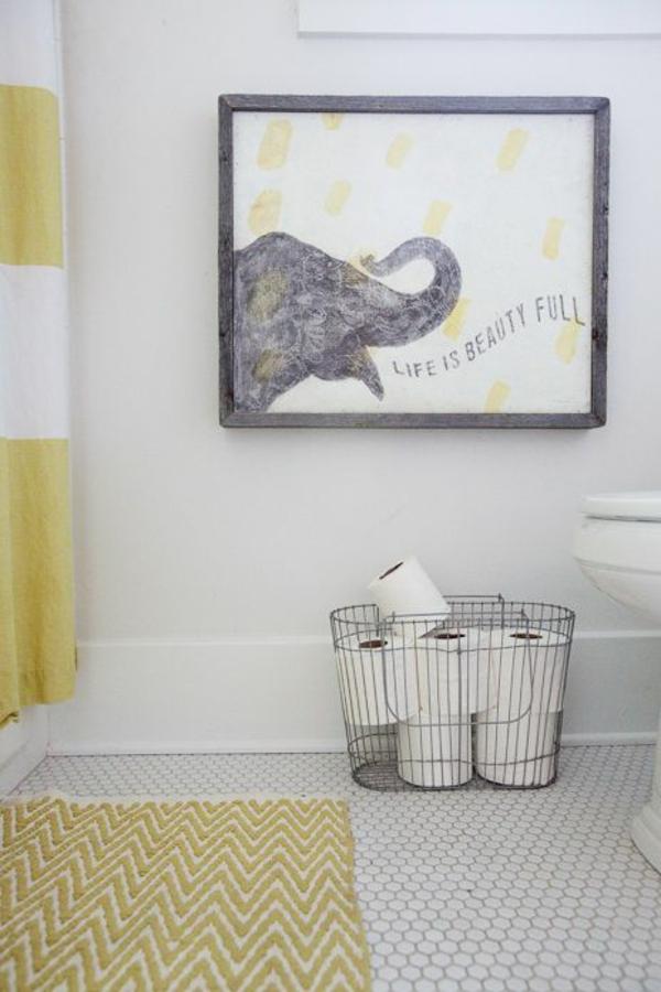 kleines bad einrichten badmatten baumwolle badteppiche badvorleger
