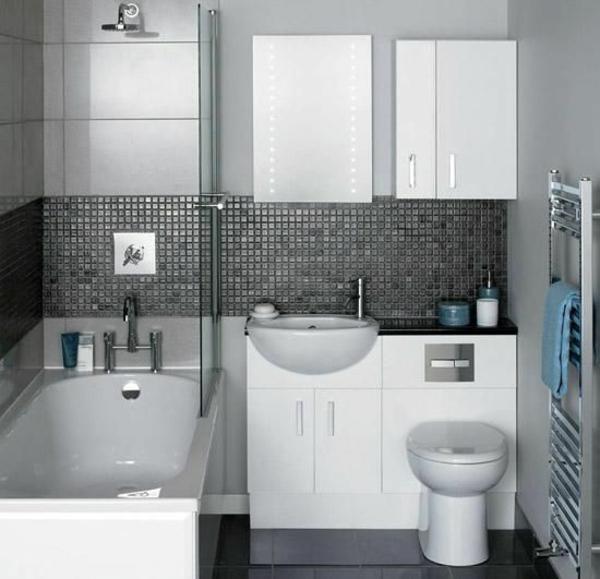 Fesselnd Klein Bad Einrichten Bedewanne Glasscheibe Moderne Badezimmer