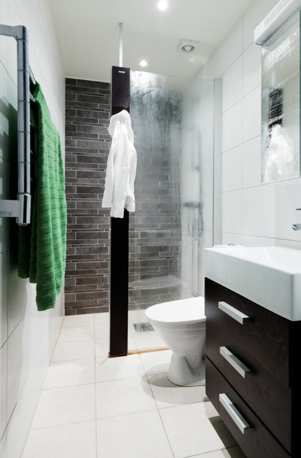 Begehbare Dusche Kleines Bad : Kleines Bad Fliesen – helle Fliesen lassen Ihr Bad gr??er erscheinen
