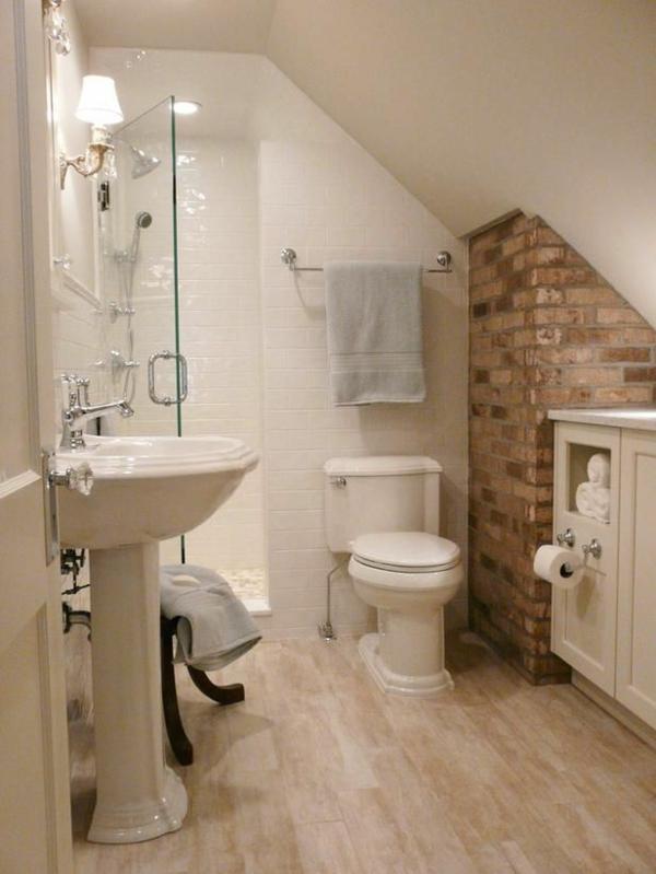 Kleine Fliesen Bad : kleines-bad-fliesen-dusche-ziegelwand-badgestaltung-kleines-bad ...