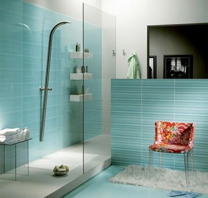 Badezimmer gestalten blaue fliesen: know how fliesen für kleine ...