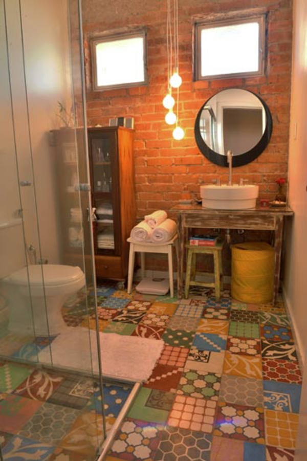 decorar lavabos antiguos : decorar lavabos antiguos:Kleines Bad Fliesen – helle Fliesen lassen Ihr Bad größer erscheinen