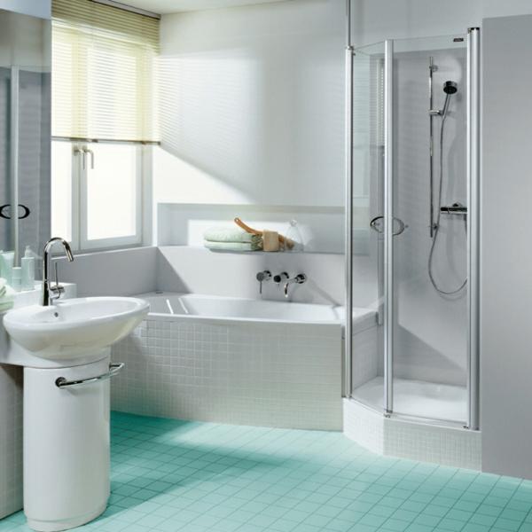 kleines bad gestalten badezimmer fliesen duschkabine glas badezimmer fenster