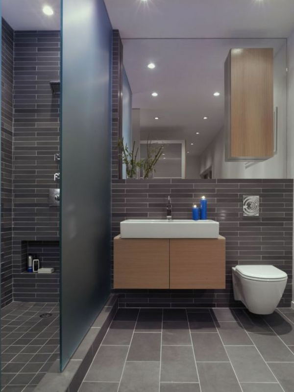 Kleines Bad Gestalten Waschbecken Rund Toilette Badezimmer Fliesen Kleines Bad  Ideen