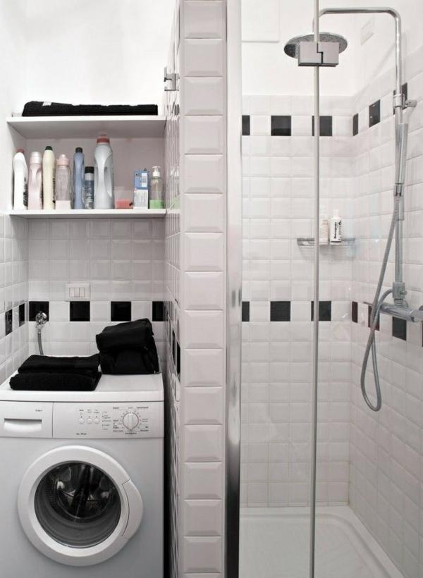 Kleines Bad Mit Dusche Und Waschmaschine : kleines bad gestalten waschmaschine nische fertigduschkabine kleines