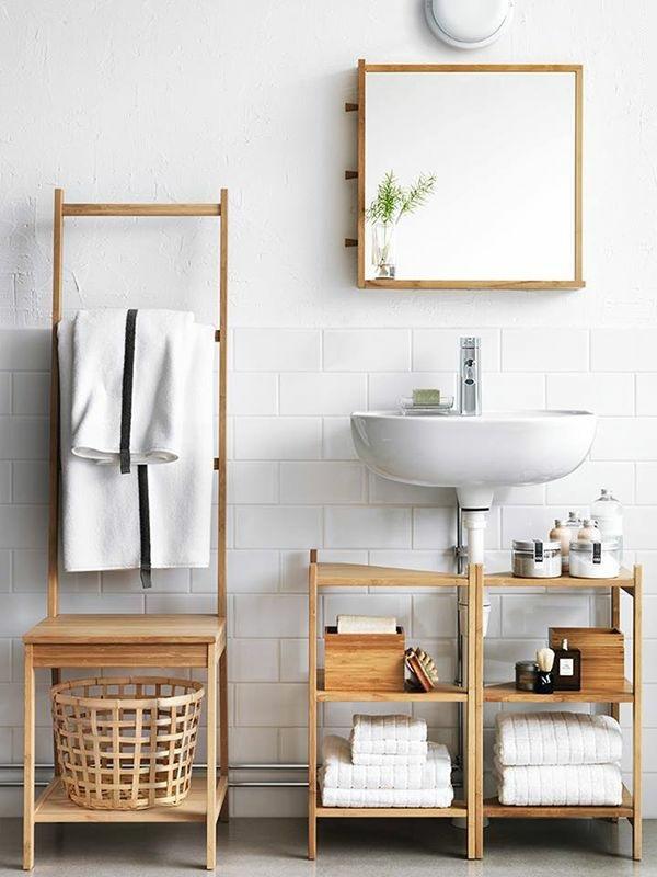 kleines bad ideen badezimmer möbel badmöbel holz waschbecken holzregale