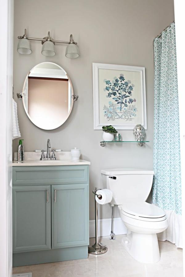 Kleine Badezimmer Ideen Dusche Duschvorhang Muster Badgestaltung Klein Bad
