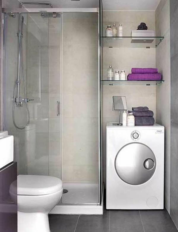kleines bad ideen waschmaschne duschkabine badmöbel